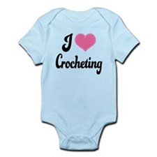 I Love Crocheting Infant Bodysuit