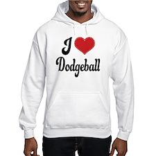 I Love Dodgeball Hoodie