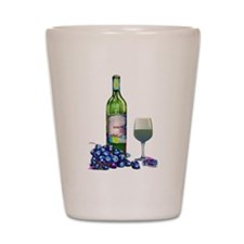 Modern Wine and grapes Shot Glass
