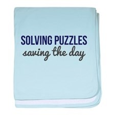 Solving Puzzles, Saving the Day baby blanket