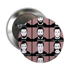 "A guide to Beard Types 2.25"" Button (100 pack)"