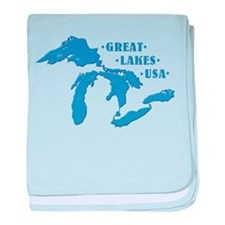 GREAT LAKES USA baby blanket