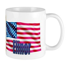 Elinor Personalized USA Flag Coffee Mug