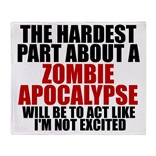Exciting zombie apocalypse Throw Blanket
