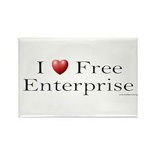 I Love Free Enterprise Rectangle Magnet