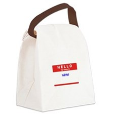 Nametag Custom Canvas Lunch Bag