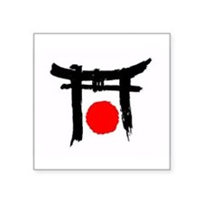 "japan.bmp Square Sticker 3"" x 3"""