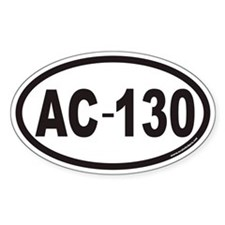 AC-130 Euro Oval Decal