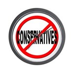 Anti / No Conservatives Wall Clock