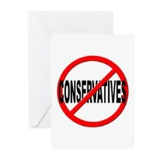 Anti / No Conservatives Greeting Cards (Pk of 10)