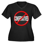 Anti / No Conservatives Women's Plus Size V-Neck D