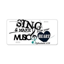 Sing4Christ Aluminum License Plate