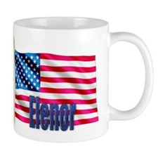 Elenor Personalized USA Flag Mug