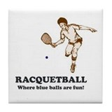 Racquetball Tile Coaster
