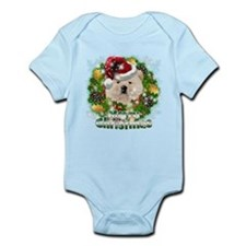 Merry Christmas Chow Chow.png Infant Bodysuit