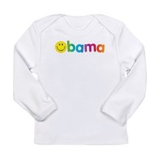 Obama Smiley Face Long Sleeve Infant T-Shirt