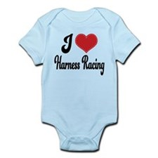 I Love Harness Racing Infant Bodysuit