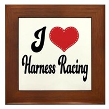I Love Harness Racing Framed Tile