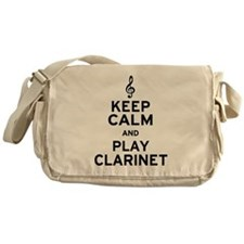 Keep Calm Clarinet Messenger Bag