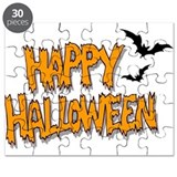Creepy Halloween with bats Puzzle