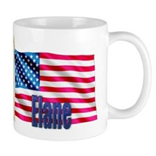 Elane Personalized USA Flag Mug