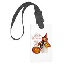 Vintage Halloween witch Luggage Tag