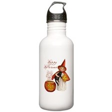 Vintage Halloween witch Water Bottle