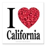 ilovecalifornia.png Square Car Magnet 3