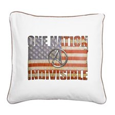 One Nation Indivisible Square Canvas Pillow
