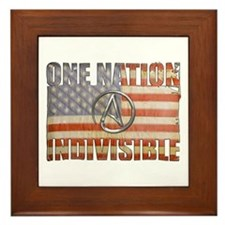 One Nation Indivisible Framed Tile