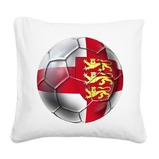 English 3 Lions Football Square Canvas Pillow