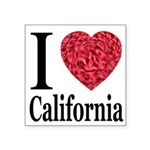 ilovecalifornia.png Square Sticker 3