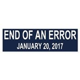 End of an Error Car Sticker