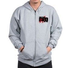 You've Got Red On You Zombie Zip Hoodie