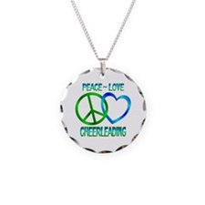 Peace Love Cheerleading Necklace