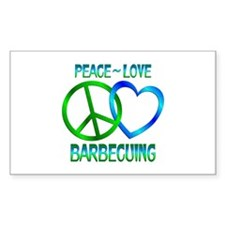 Peace Love Barbecuing Decal