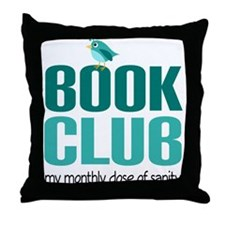 Book Club Sanity Throw Pillow