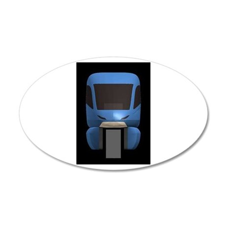 Monorail Sample 20x12 Oval Wall Decal