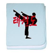 Tae Kwon Do Grunge Hanja Kanji Tee baby blanket