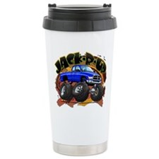 Blue Jack-R-Up Ram Ceramic Travel Mug