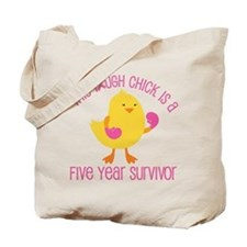 Breast Cancer 5 Year Survivor Chick Tote Bag