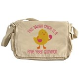 Breast Cancer 5 Year Survivor Chick Messenger Bag