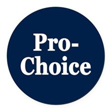 Pro-Choice Round Car Magnet