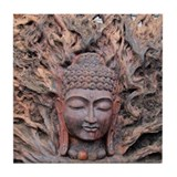 Buddhist Wood Carving - Tile Coaster