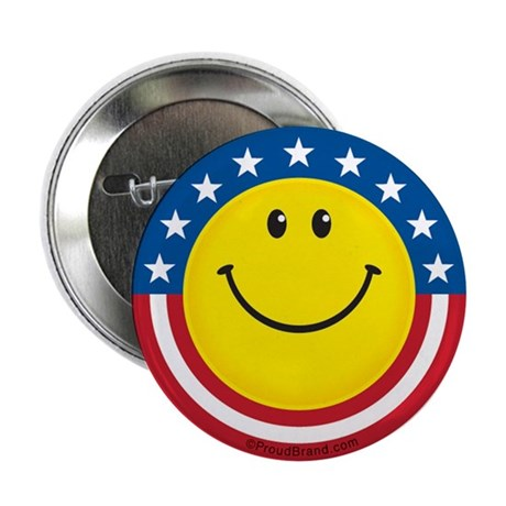"Smile for USA: 2.25"" Button (100 pack)"