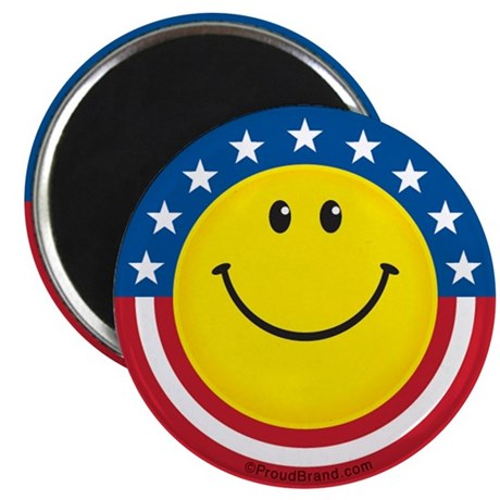 "Smile for USA: 2.25"" Magnet (100 pack)"