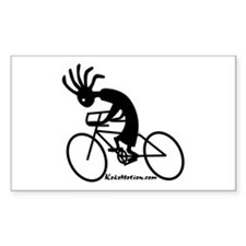 Kokopelli Road Cyclist Rectangle Decal