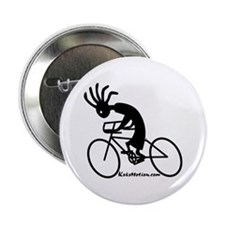 "Kokopelli Road Cyclist 2.25"" Button (100 pack)"