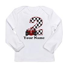 2nd Birthday Race Car Long Sleeve Infant T-Shirt