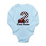 2nd Birthday Race Car Long Sleeve Infant Bodysuit
